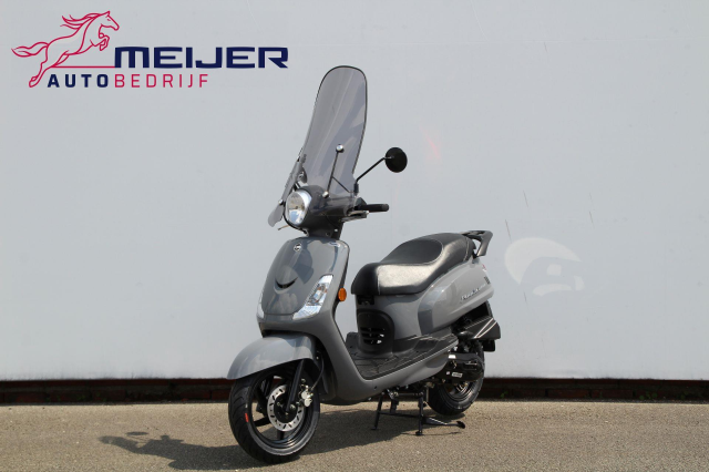 SYM-Snorscooter Fiddle II E4 Euro 4 | Smoke Scherm | Nardo Grey | BTW Scooter !!